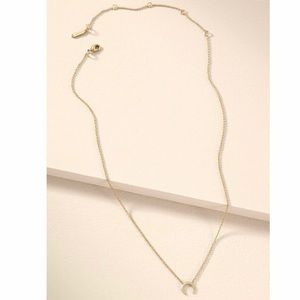 Gold Pave Horn Necklace - Stella & Dot, NWT!